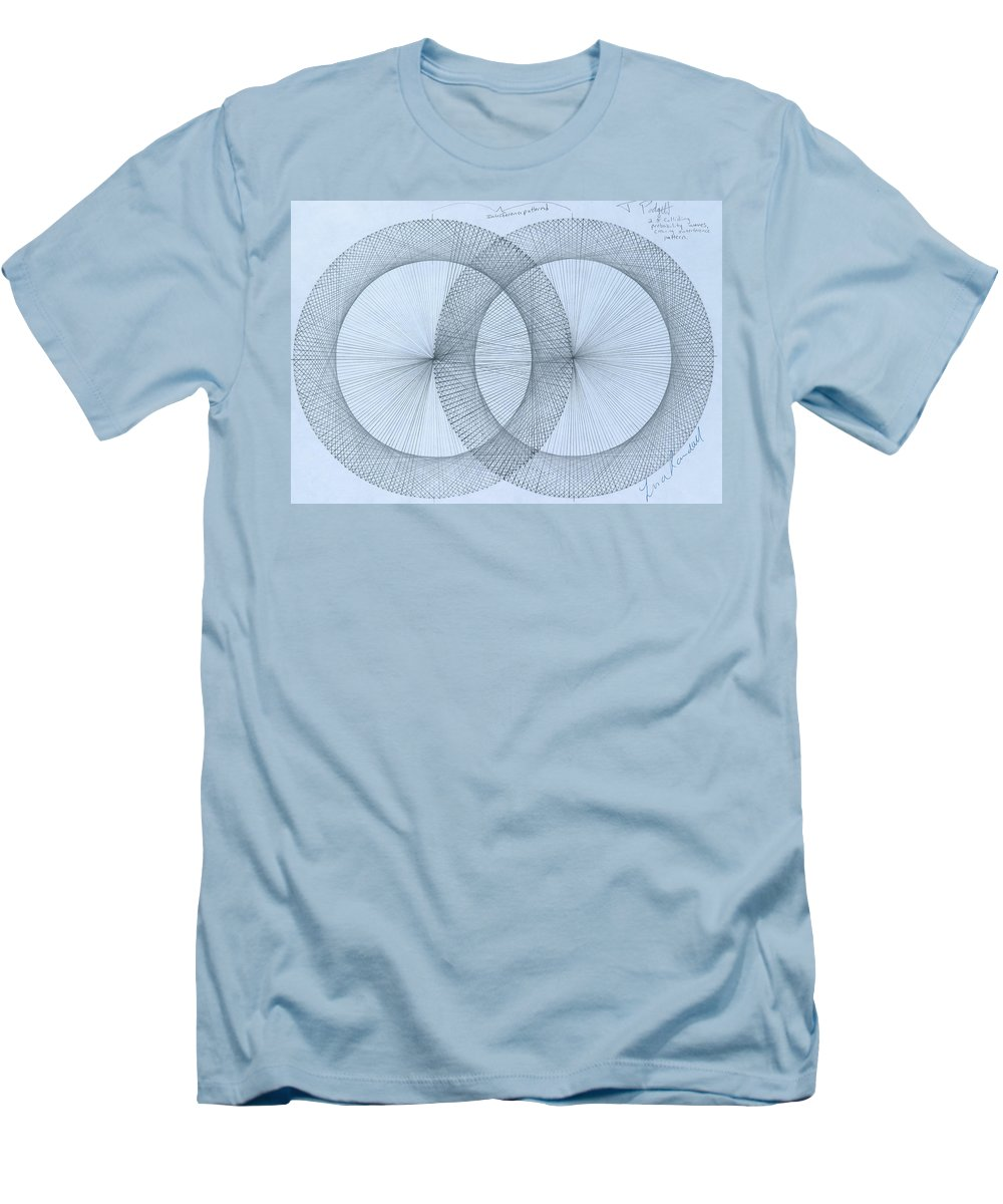 Magnet Men's T-Shirt (Athletic Fit) featuring the drawing  Magnetism by Jason Padgett
