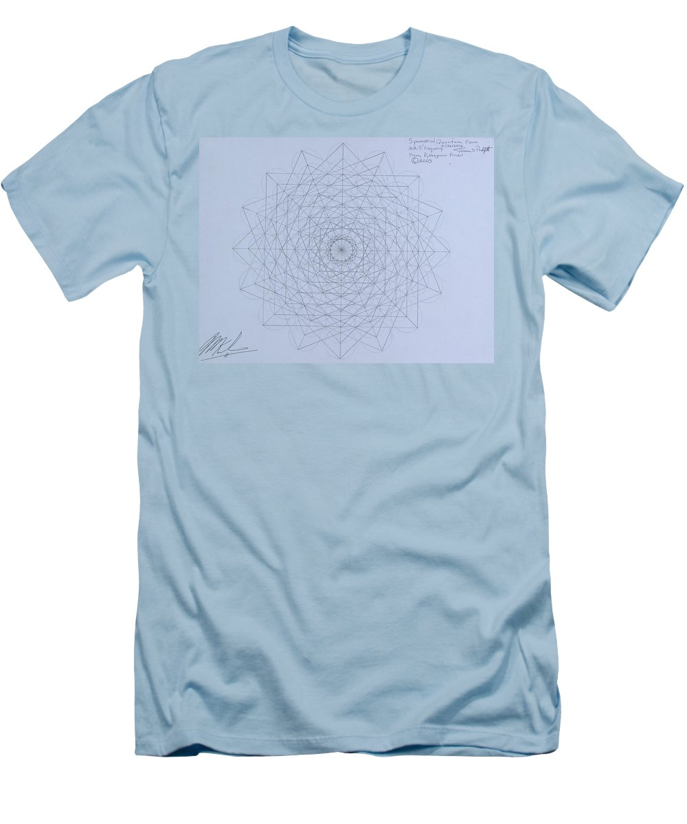 Jason Men's T-Shirt (Athletic Fit) featuring the drawing Quantum Foam by Jason Padgett