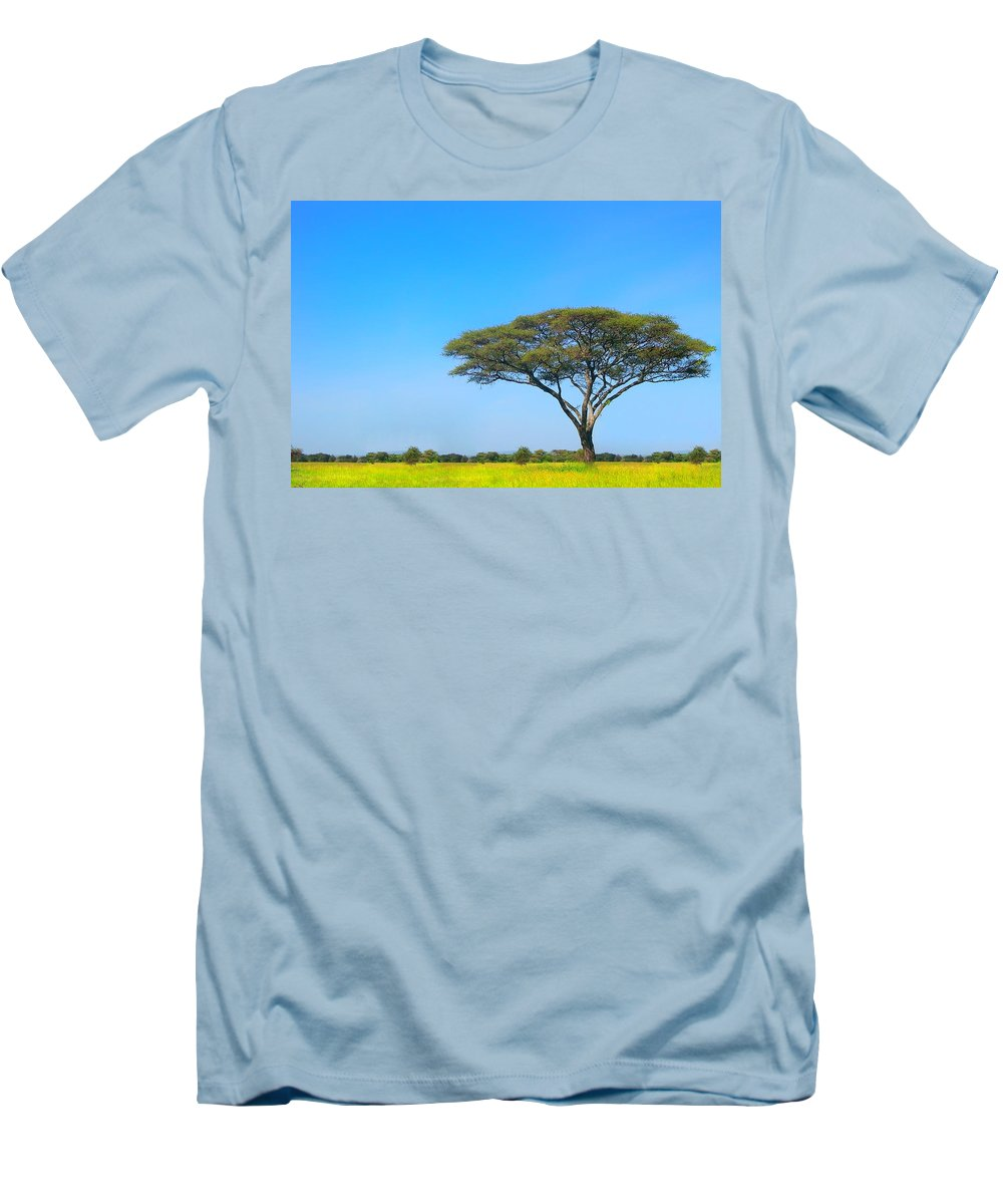 Africa Men's T-Shirt (Athletic Fit) featuring the photograph Africa by Sebastian Musial