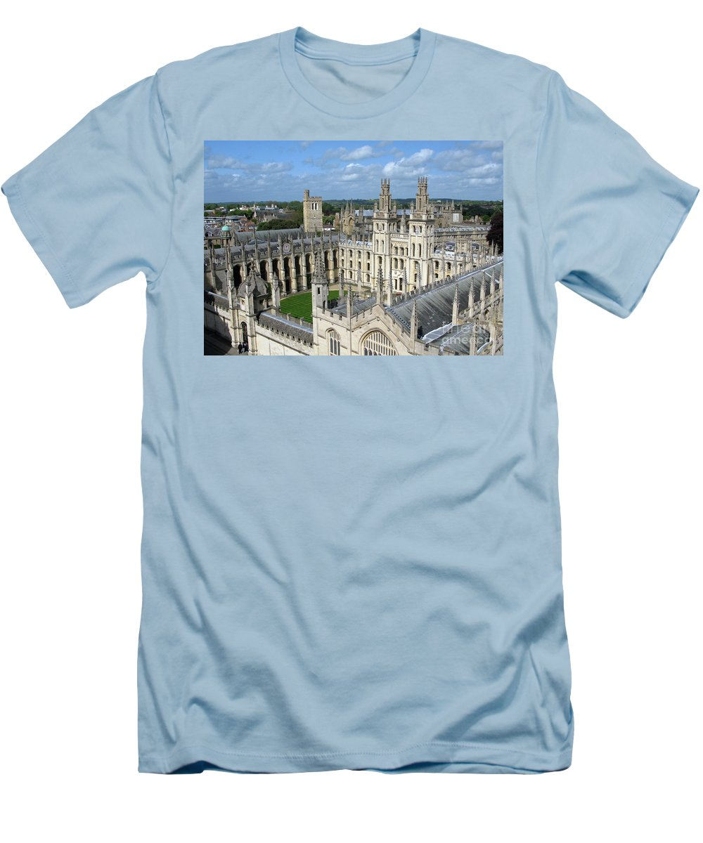 Oxford Men's T-Shirt (Athletic Fit) featuring the photograph All Souls College by Ann Horn