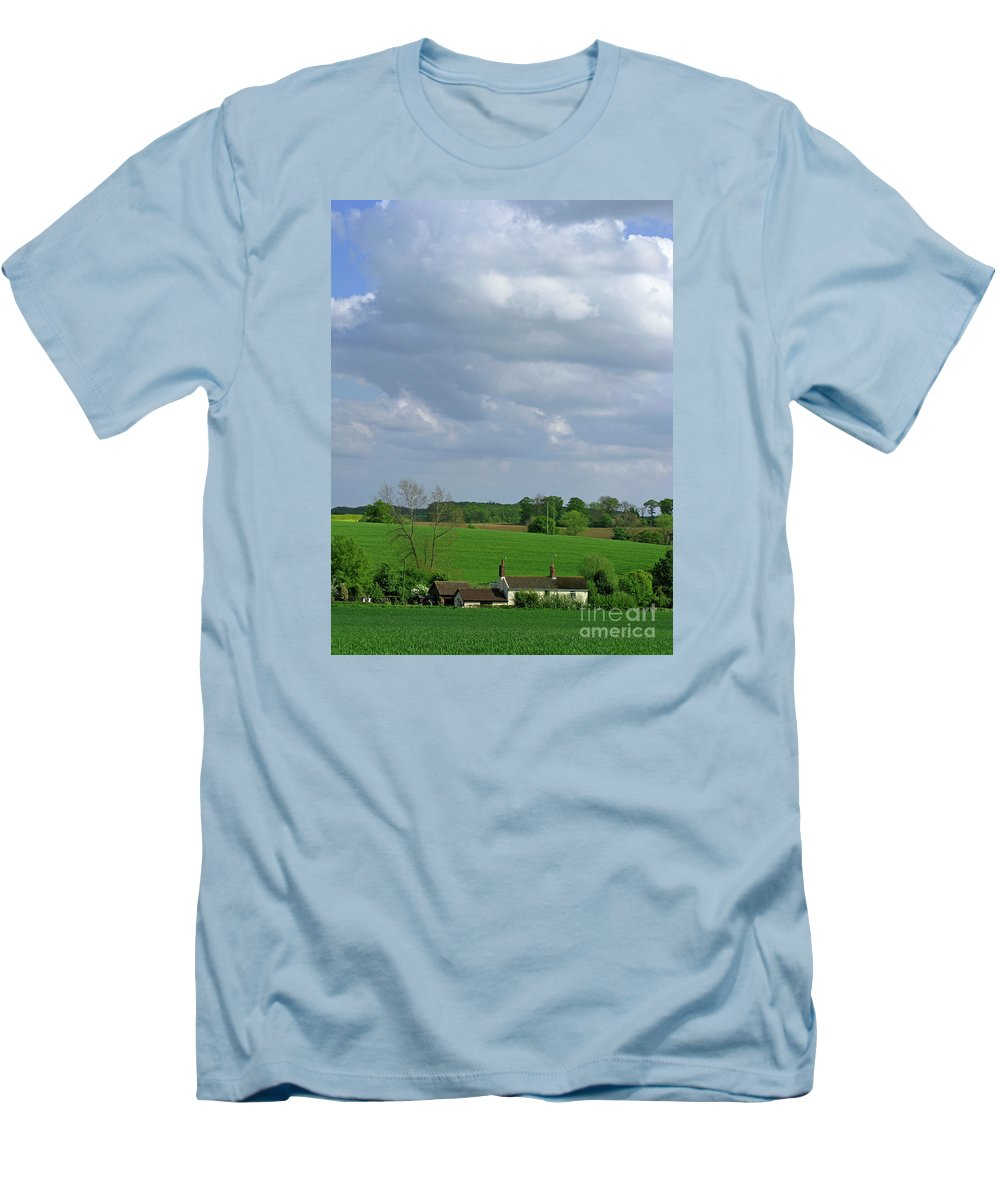 Sky Men's T-Shirt (Athletic Fit) featuring the photograph Big Suffolk Sky by Ann Horn