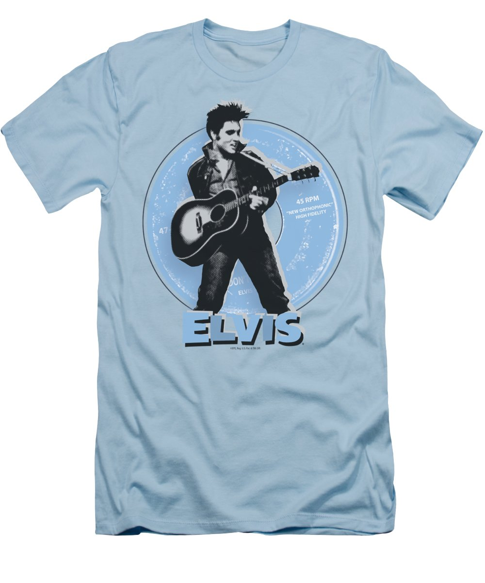 Elvis T-Shirt featuring the digital art Elvis - 45 Rpm by Brand A