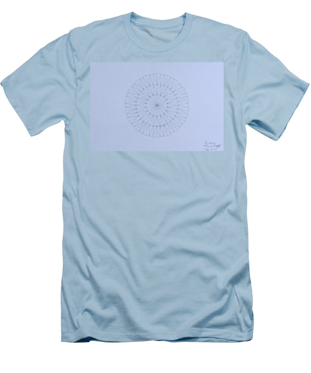 Jason Padgett Men's T-Shirt (Athletic Fit) featuring the drawing Energy Wave 20 Degree Frequency by Jason Padgett