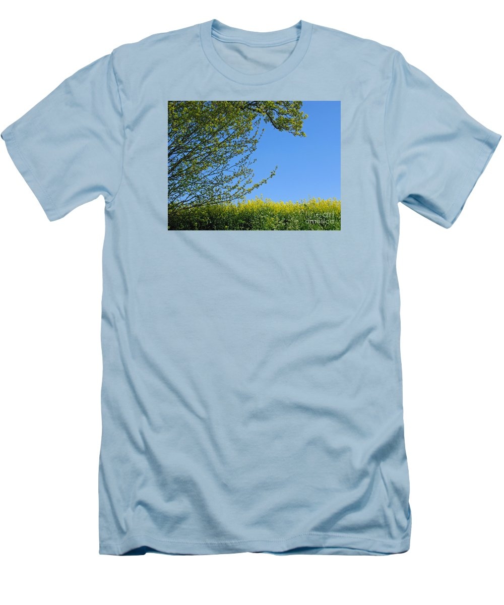 Spring Men's T-Shirt (Athletic Fit) featuring the photograph Golden Growing Season by Ann Horn