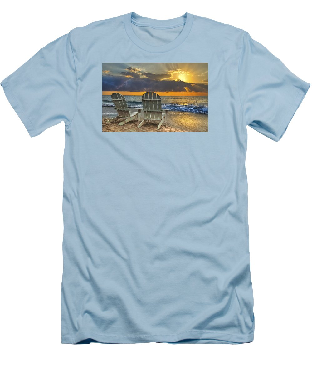 Zen Men's T-Shirt (Athletic Fit) featuring the photograph In The Spotlight by Debra and Dave Vanderlaan