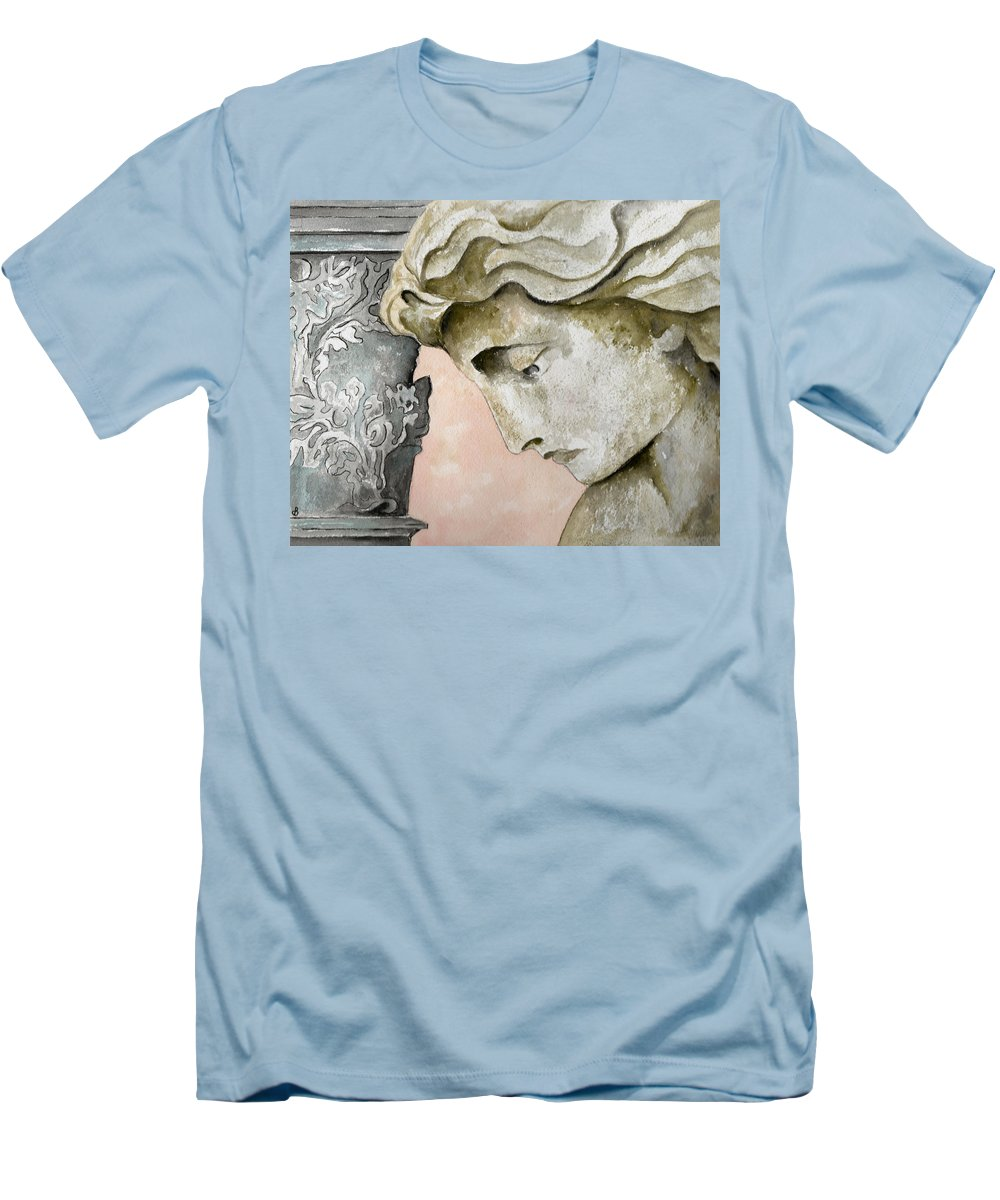 Watercolor Men's T-Shirt (Athletic Fit) featuring the painting Introspective by Brenda Owen