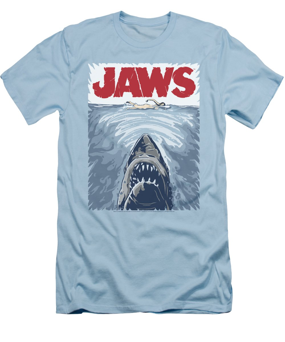 Jaws T-Shirt featuring the digital art Jaws - Graphic Poster by Brand A