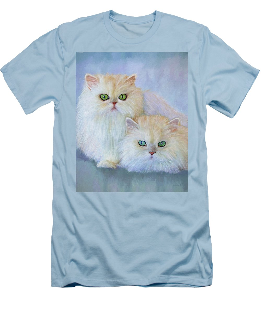 Cat Men's T-Shirt (Athletic Fit) featuring the painting Katrina And Bjorn by David Wagner