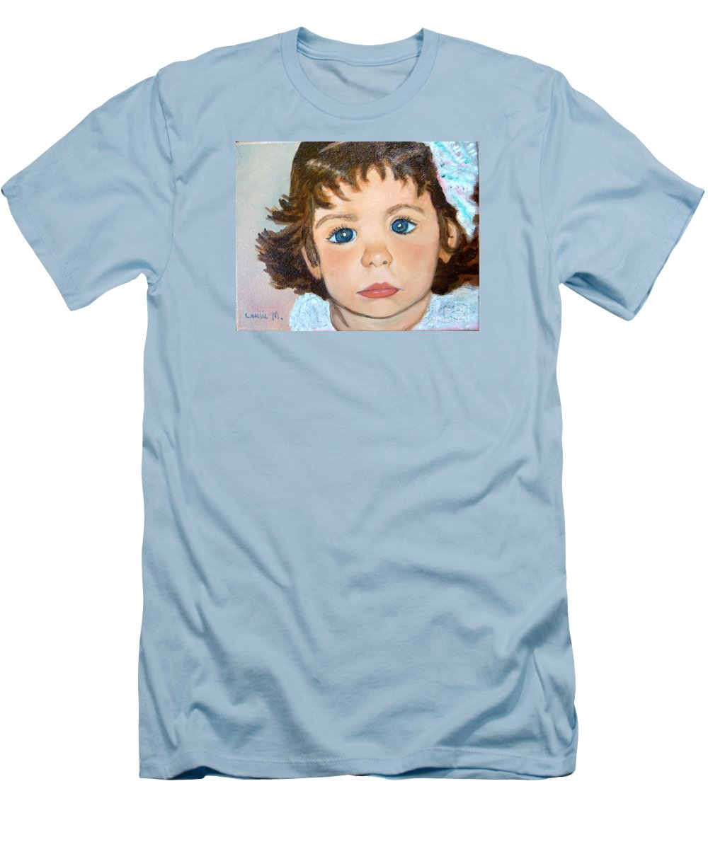 Portrait Men's T-Shirt (Athletic Fit) featuring the painting Nikki by Laurie Morgan