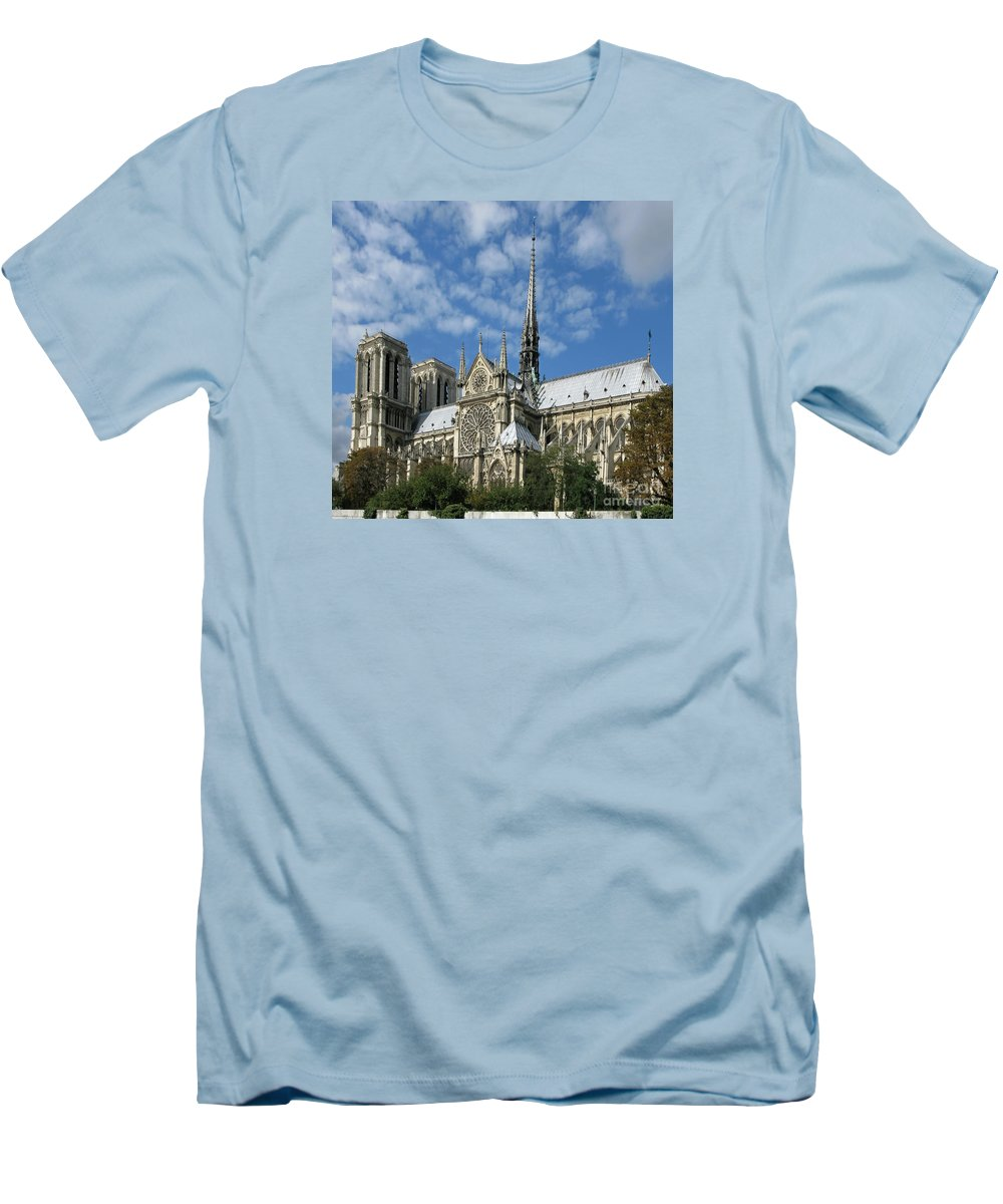 Notre Dame Men's T-Shirt (Athletic Fit) featuring the photograph Notre Dame Cathedral by Ann Horn