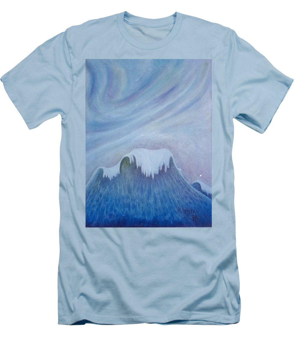 Ocean Men's T-Shirt (Athletic Fit) featuring the painting Ocean Wave by Micah Guenther