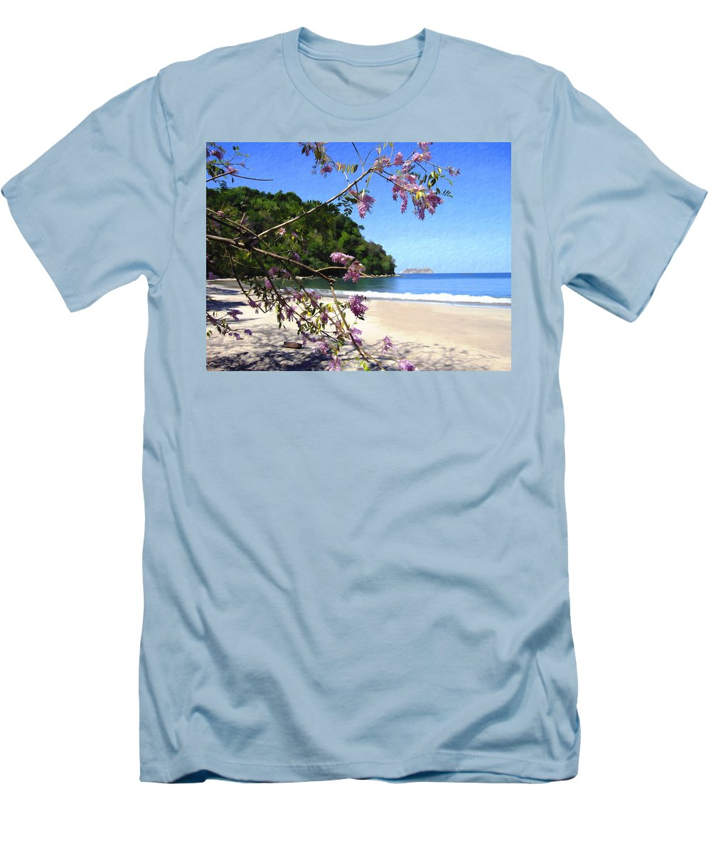 Beach Men's T-Shirt (Athletic Fit) featuring the photograph Playa Espadillia Sur Manuel Antonio National Park Costa Rica by Kurt Van Wagner