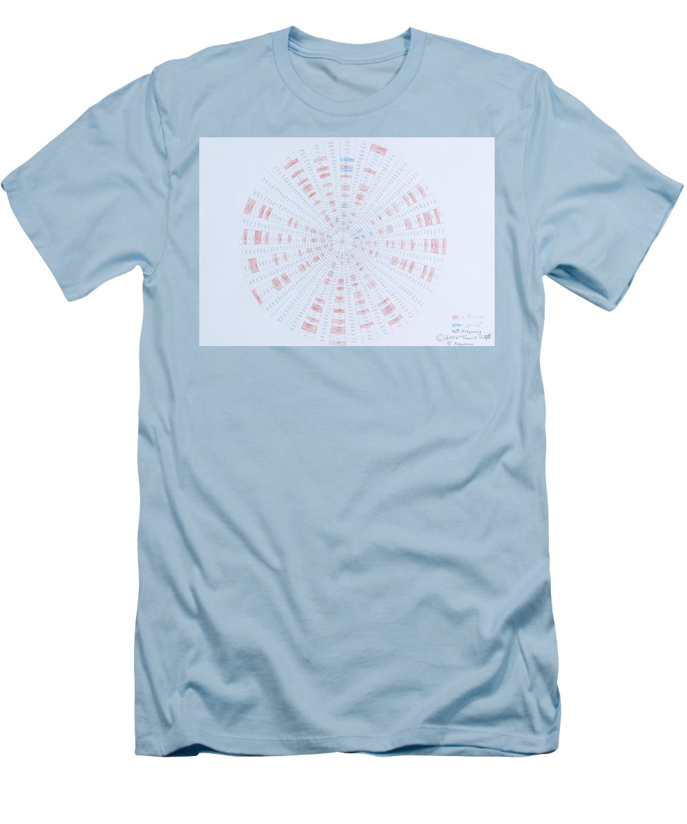 Prime Number Men's T-Shirt (Athletic Fit) featuring the drawing Prime Number Pattern P Mod 40 by Jason Padgett