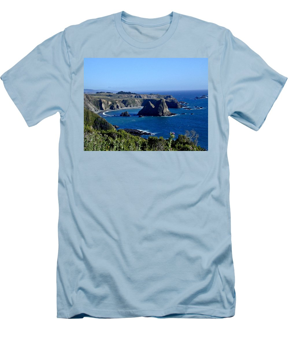 Sea Men's T-Shirt (Athletic Fit) featuring the photograph Sea Coast Of Northern California by Douglas Barnett