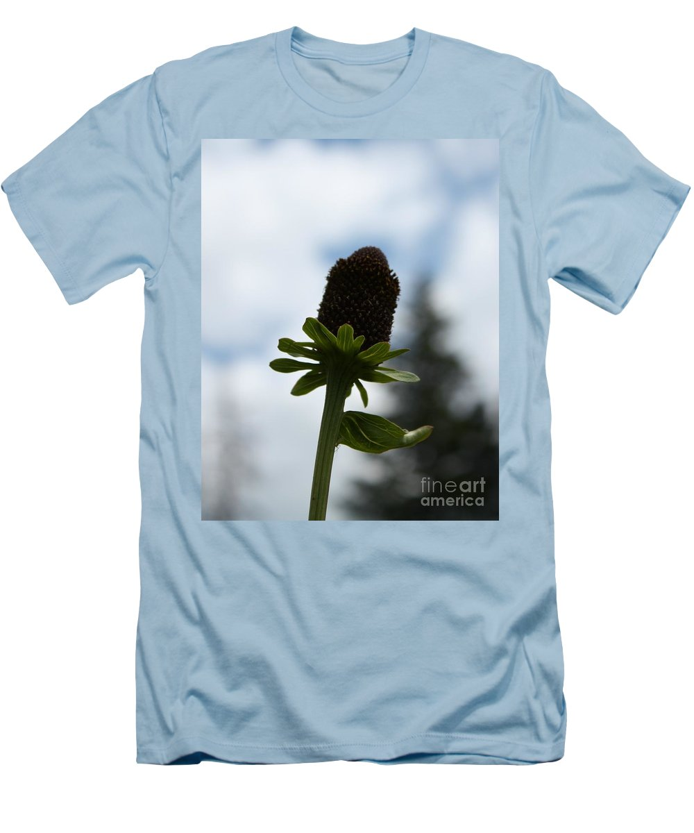 Flower Men's T-Shirt (Athletic Fit) featuring the photograph Sky Flower by Brandi Maher
