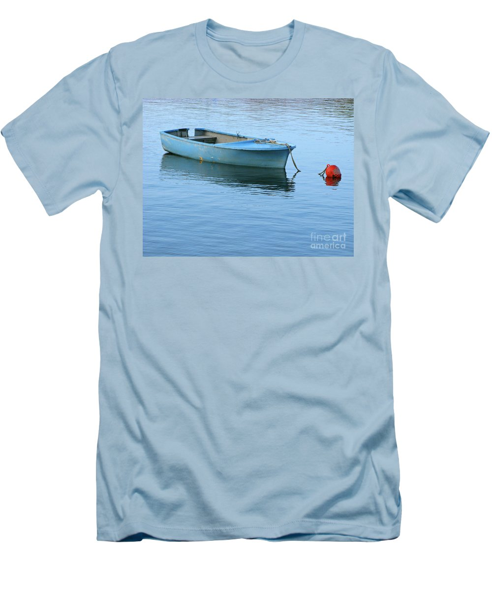 Rowboat Men's T-Shirt (Athletic Fit) featuring the photograph Still Afloat by Ann Horn