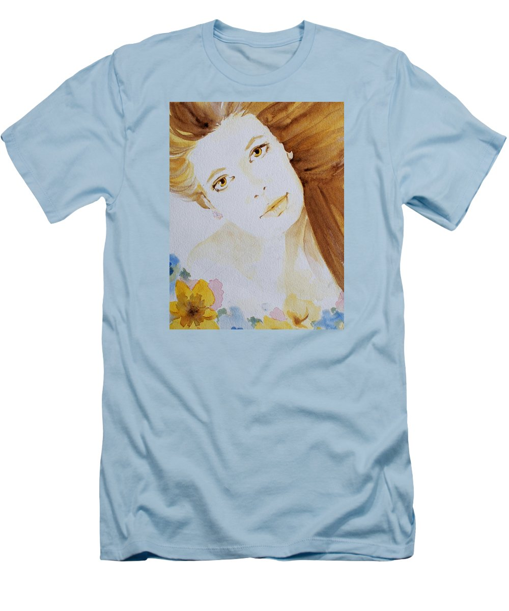 Watercolour Men's T-Shirt (Athletic Fit) featuring the painting Still Waters' Reflection by Janice Gell
