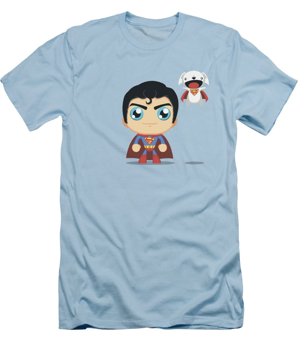 Superman T-Shirt featuring the digital art Superman - Cute Superman by Brand A
