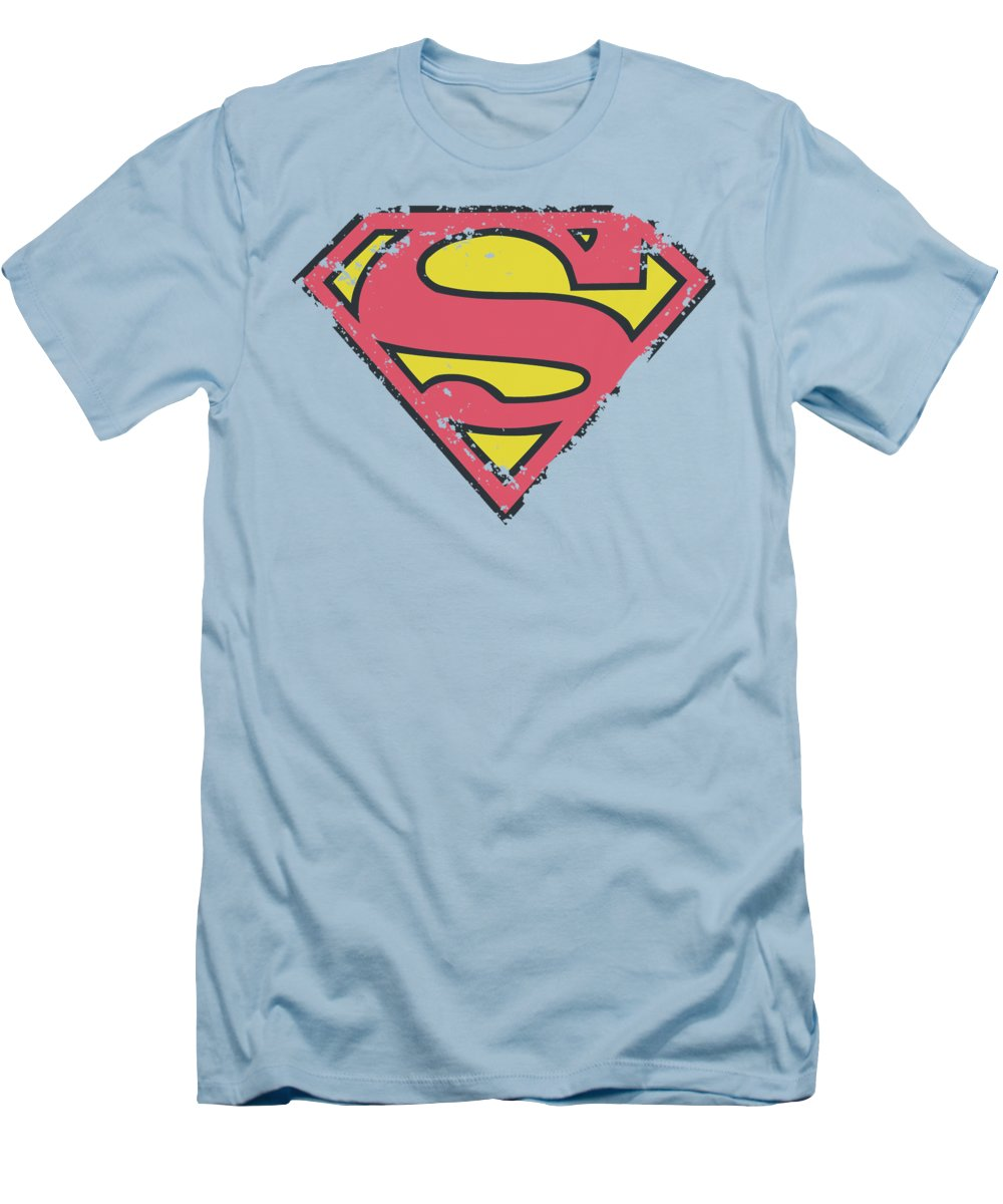 Superman T-Shirt featuring the digital art Superman - Distressed Shield by Brand A