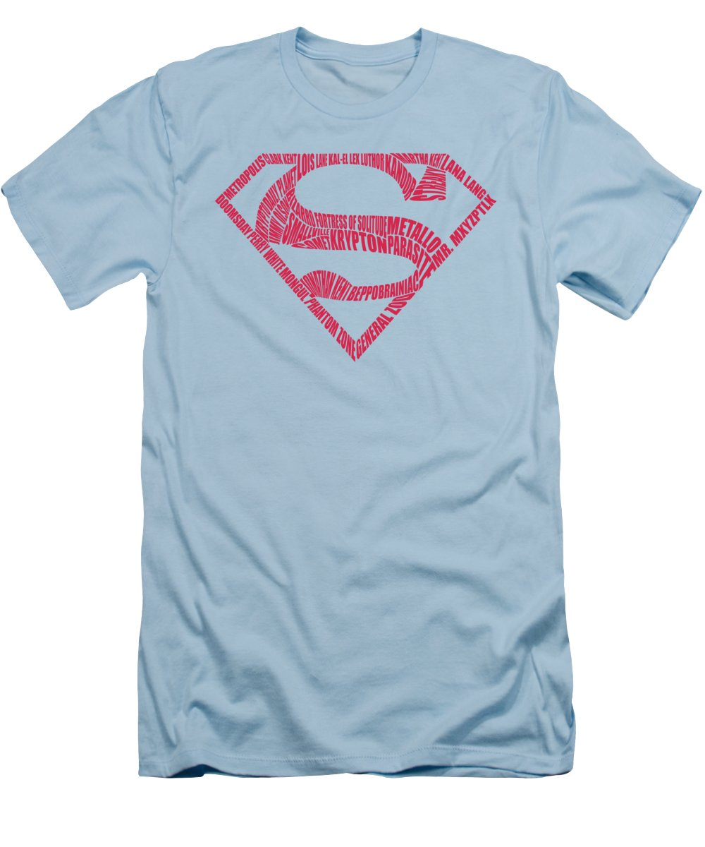 Superman T-Shirt featuring the digital art Superman - Word Shield by Brand A