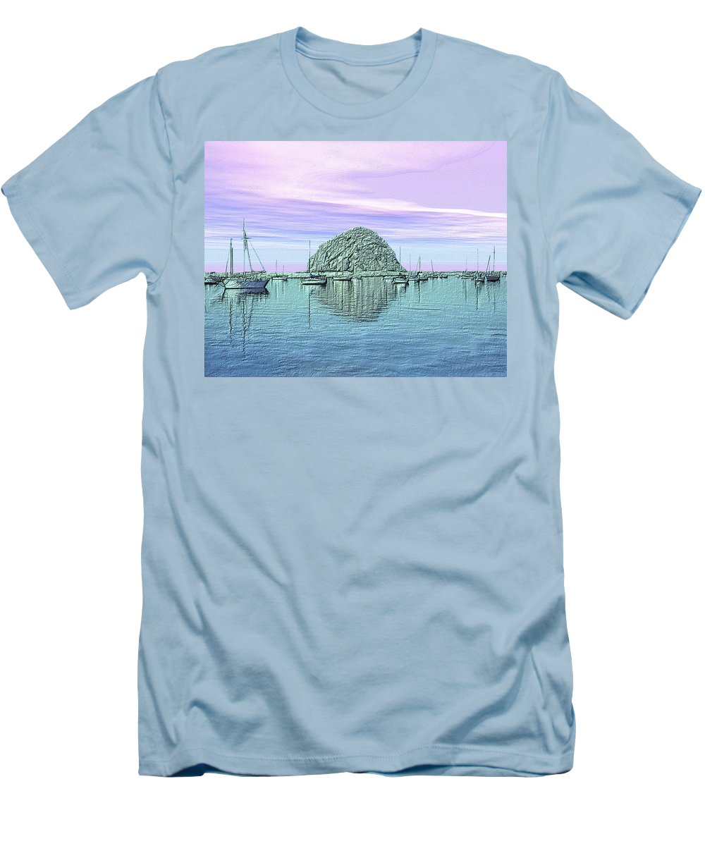 Seascape Men's T-Shirt (Athletic Fit) featuring the photograph The Rock by Kurt Van Wagner