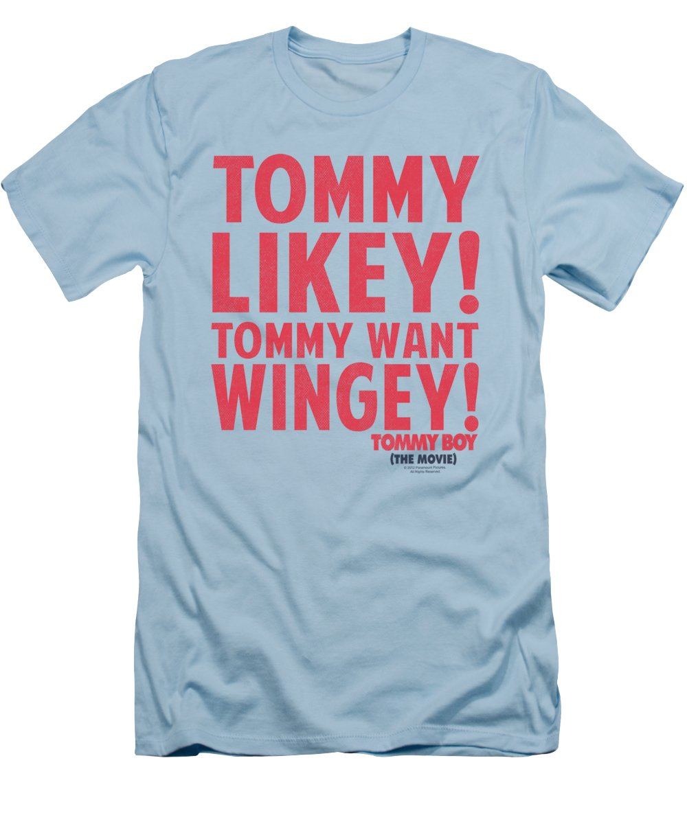 Tommy Boy T-Shirt featuring the digital art Tommy Boy - Want Wingey by Brand A