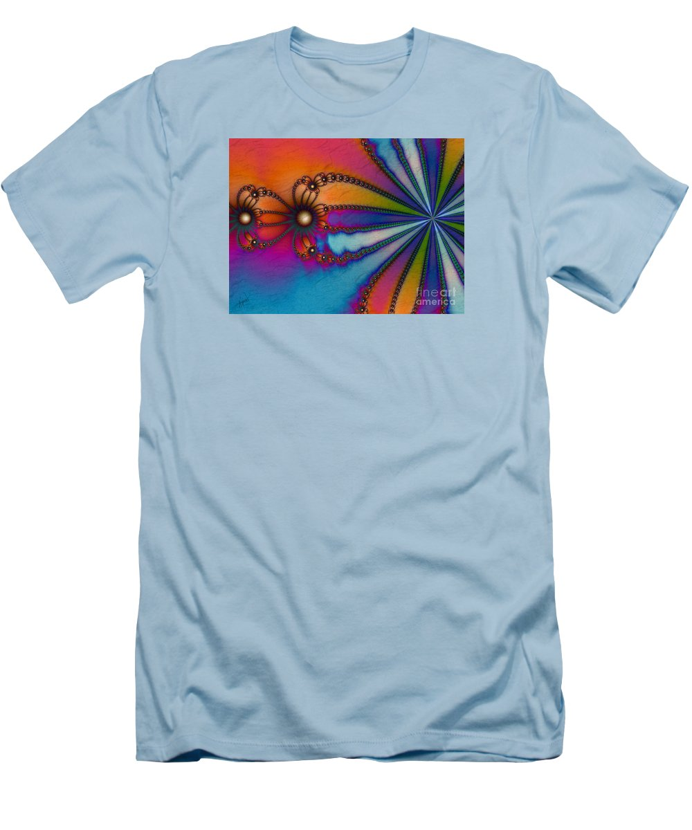Tye Dye Men's T-Shirt (Athletic Fit) featuring the digital art Tye Dye by Kimberly Hansen