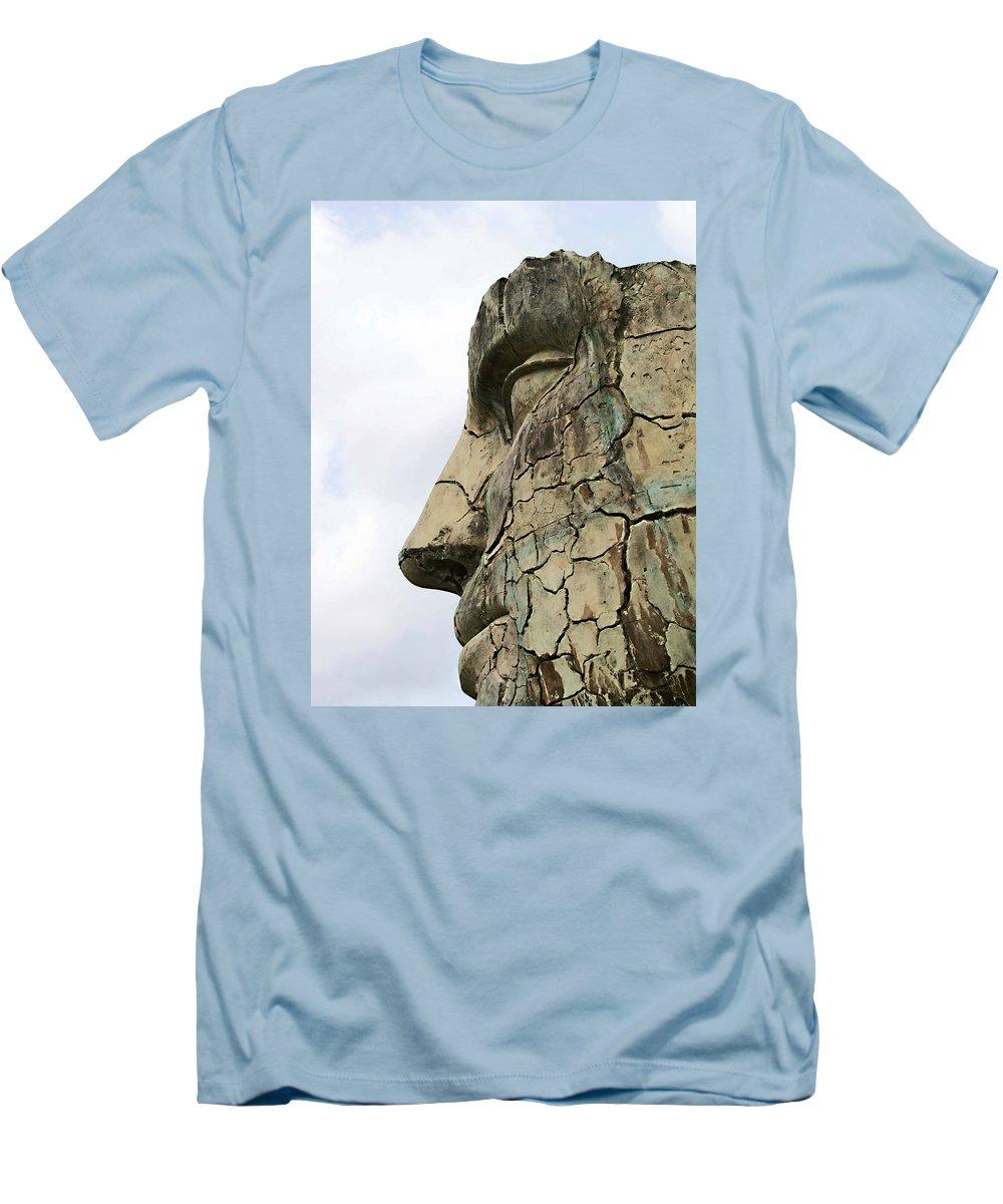 Tyndareus Cracked Men's T-Shirt (Athletic Fit) featuring the photograph Tyndareus Cracked 1 by Ellen Henneke