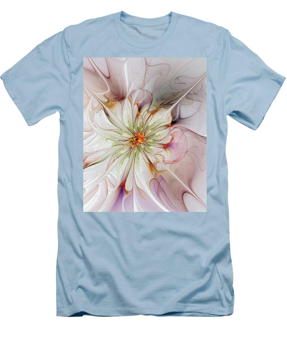 Digital Art Men's T-Shirt (Athletic Fit) featuring the digital art In Full Bloom by Amanda Moore