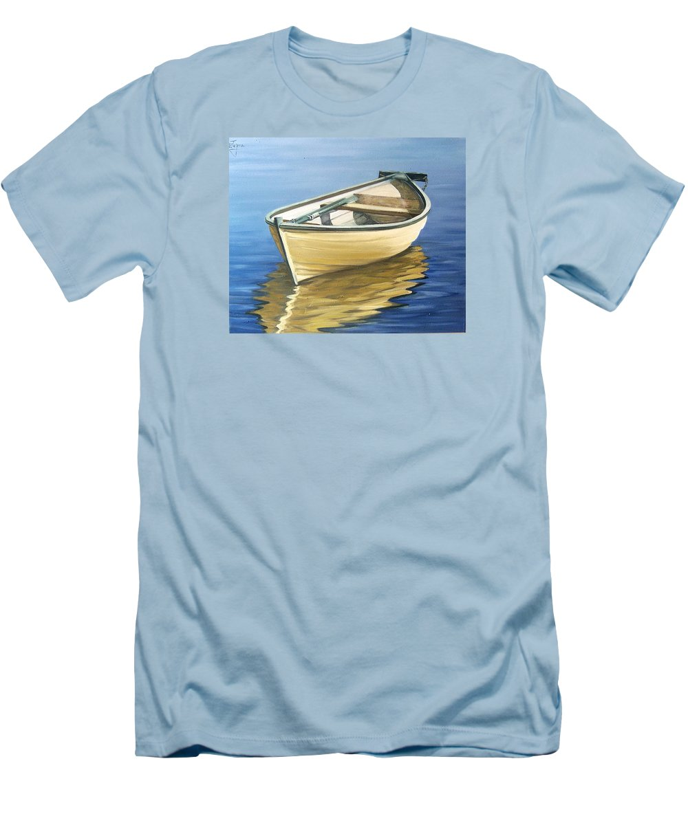 Still Life Men's T-Shirt (Athletic Fit) featuring the painting Calm by Natalia Tejera