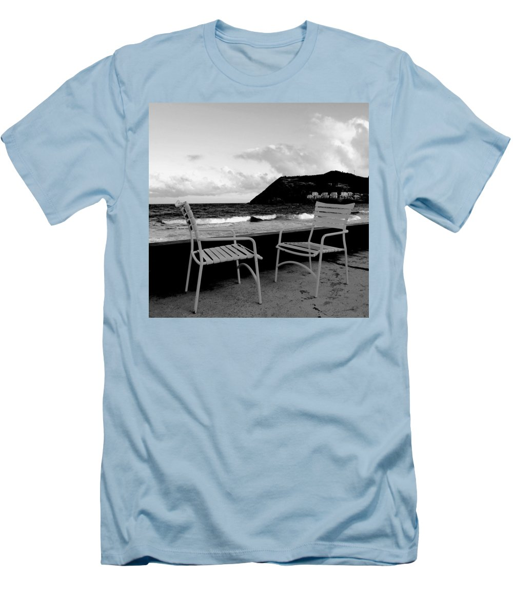 Ocean Men's T-Shirt (Athletic Fit) featuring the photograph Waiting by Ian MacDonald