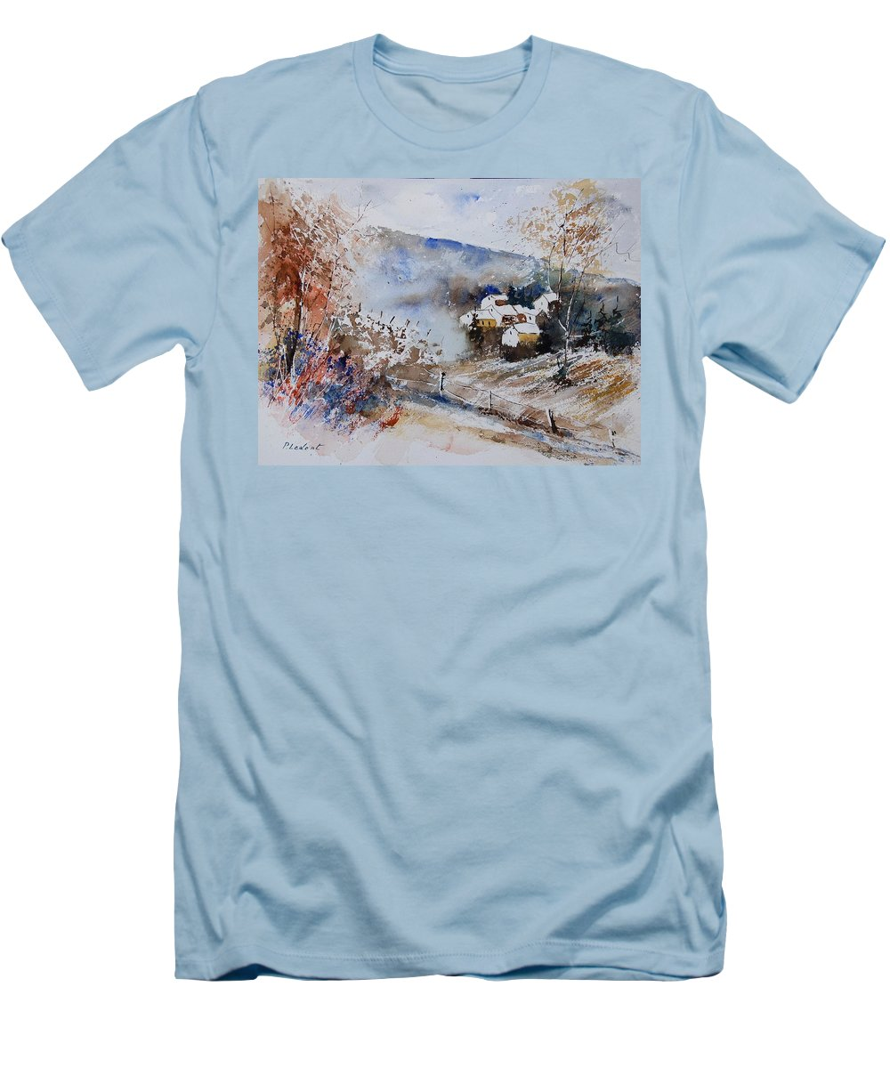 Winter Men's T-Shirt (Athletic Fit) featuring the painting Watercolor 902091 by Pol Ledent
