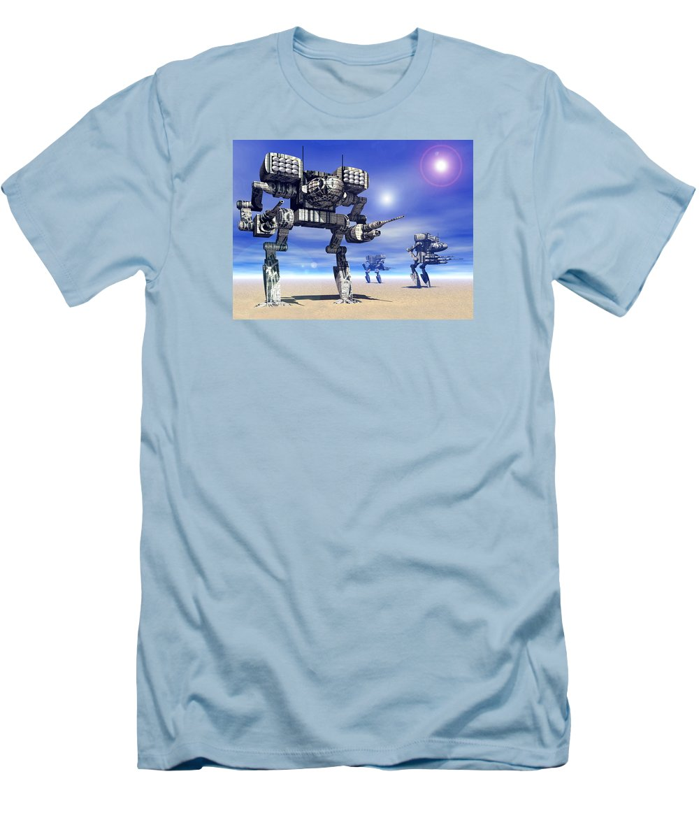 Science Fiction Men's T-Shirt (Athletic Fit) featuring the digital art 501st Mech Trinary by Curtiss Shaffer