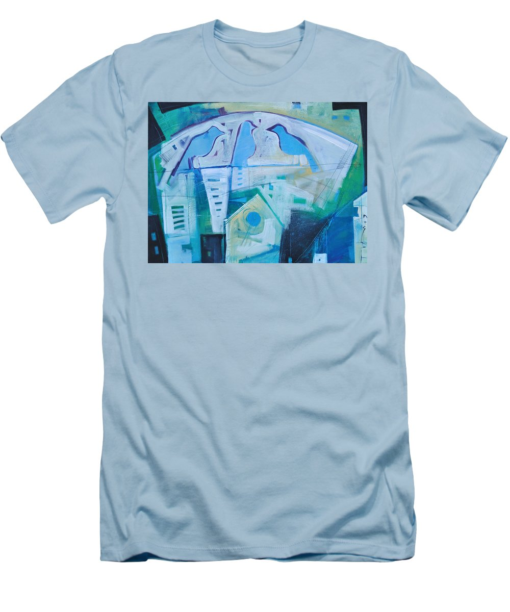 Birds Men's T-Shirt (Athletic Fit) featuring the painting A Birds Life by Tim Nyberg