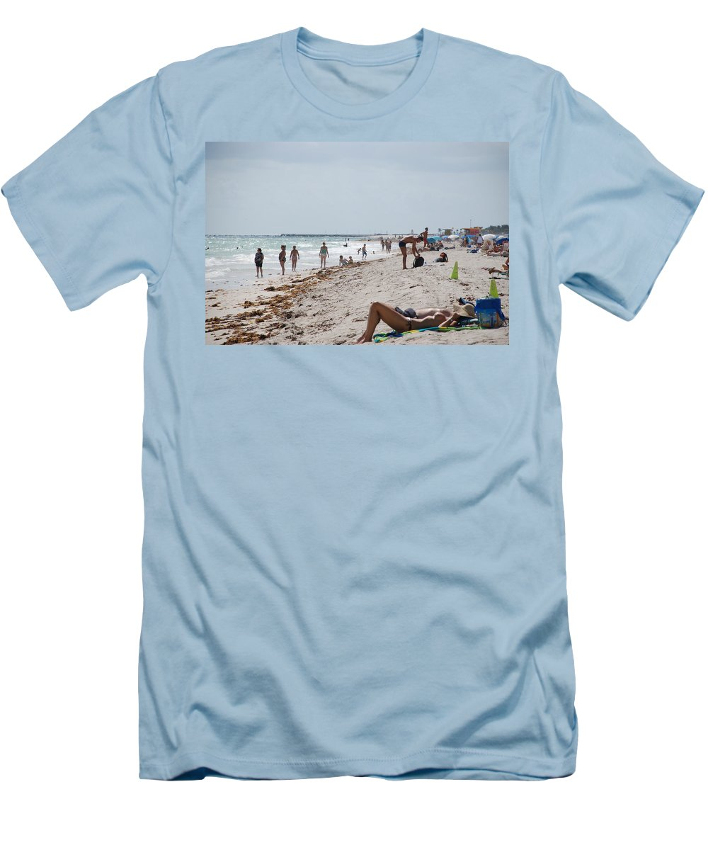 Nude Men's T-Shirt (Athletic Fit) featuring the photograph A Day At Paradise Beach by Rob Hans