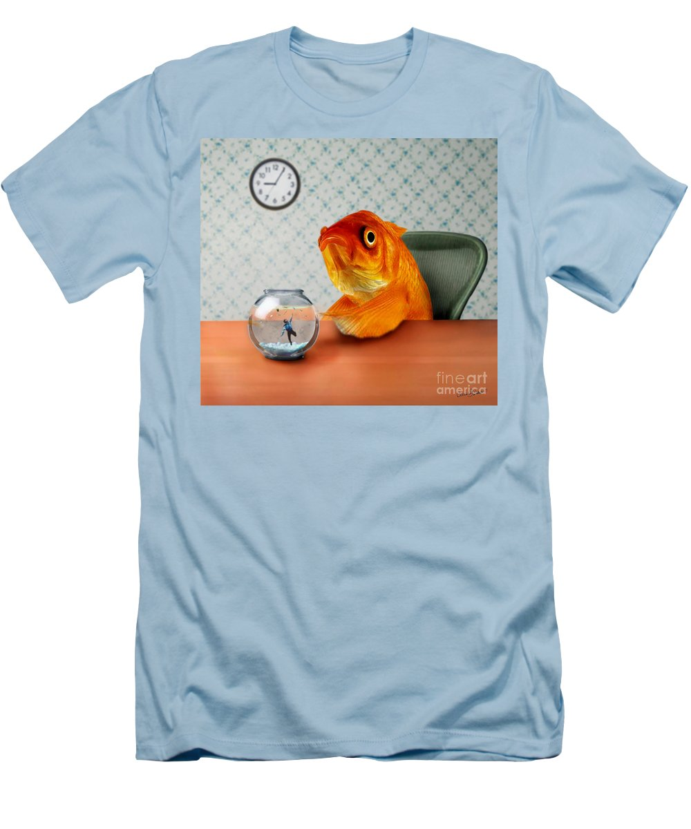 A Fish Out Of Water Men's T-Shirt (Athletic Fit) featuring the mixed media A Fish Out Of Water by Carrie Jackson