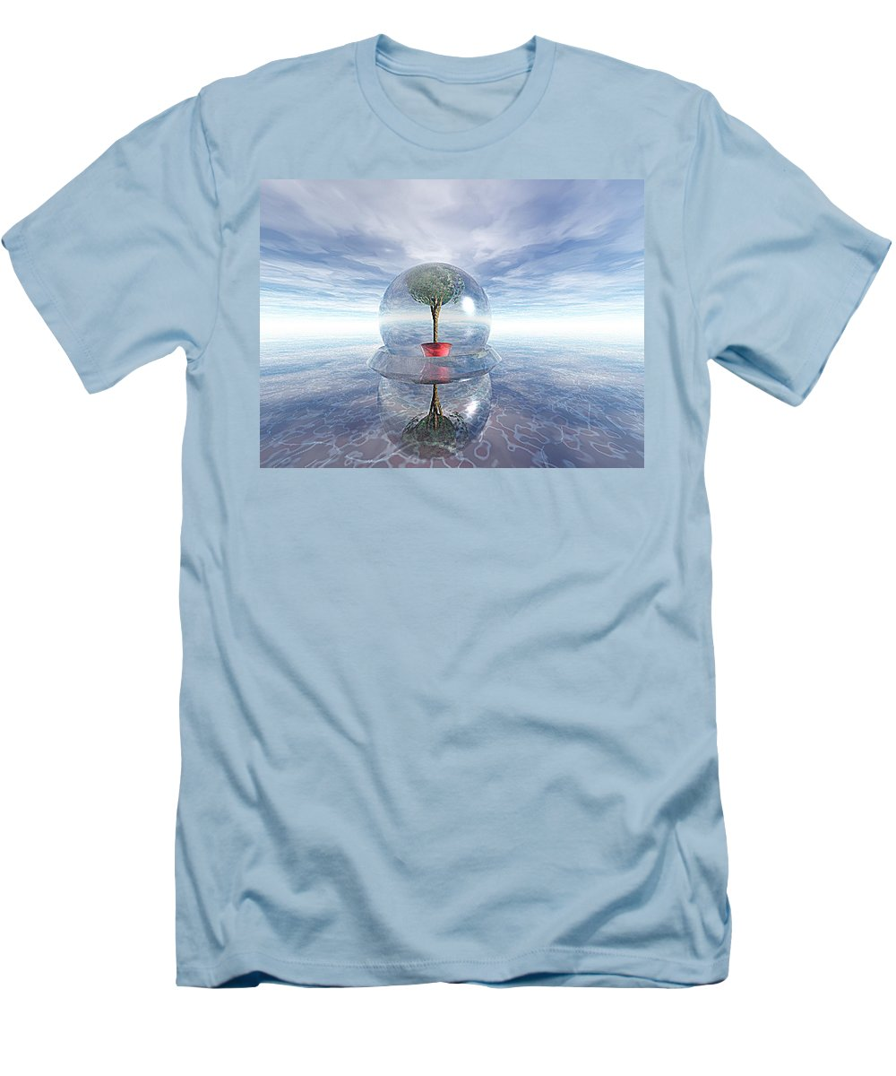 Surreal Men's T-Shirt (Athletic Fit) featuring the digital art A Healing Environment by Oscar Basurto Carbonell