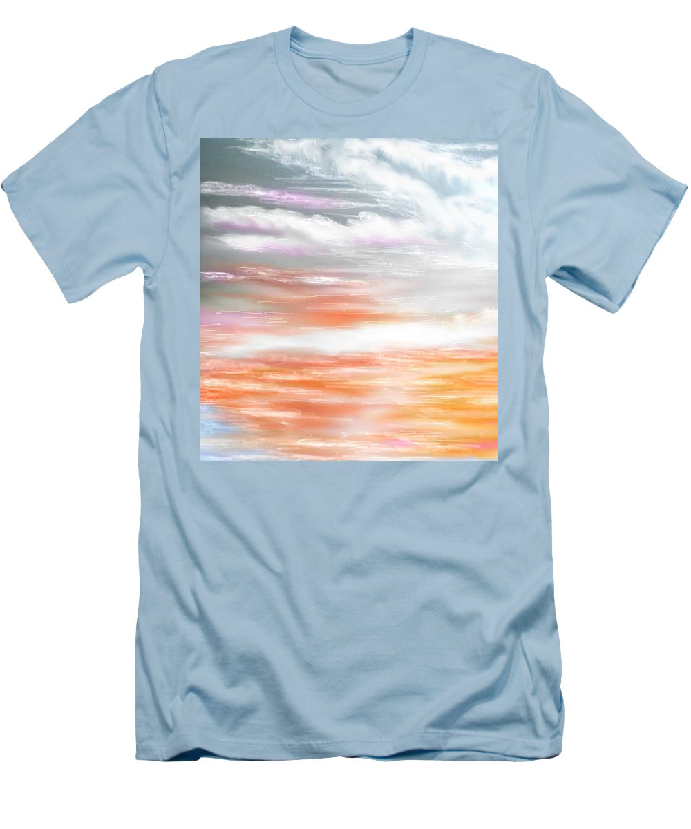 Inspirational Art Men's T-Shirt (Athletic Fit) featuring the digital art A Light Unto My Path by Brenda L Spencer