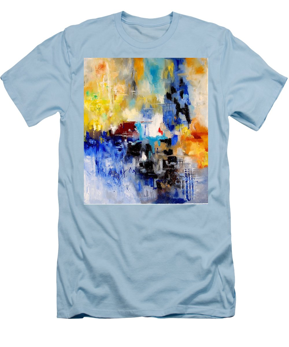 Abstract Men's T-Shirt (Athletic Fit) featuring the painting Abstract 905003 by Pol Ledent