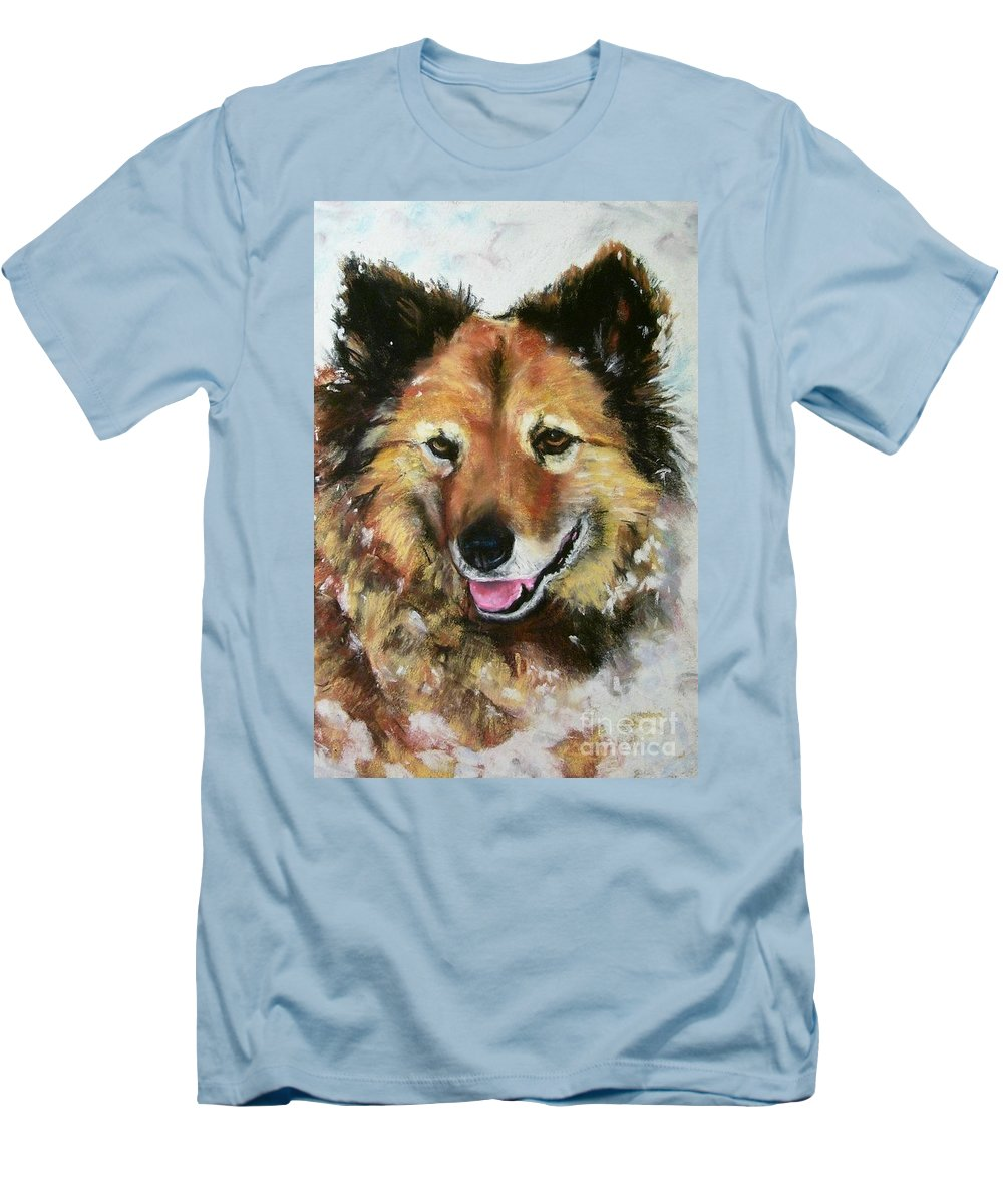 Dog Men's T-Shirt (Athletic Fit) featuring the painting Akia by Frances Marino