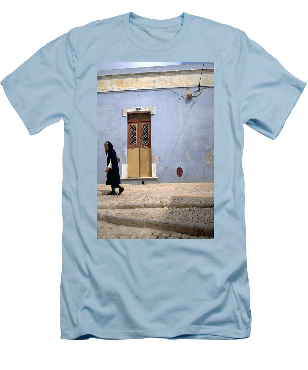 Algarve Men's T-Shirt (Athletic Fit) featuring the photograph Algarve II by Flavia Westerwelle