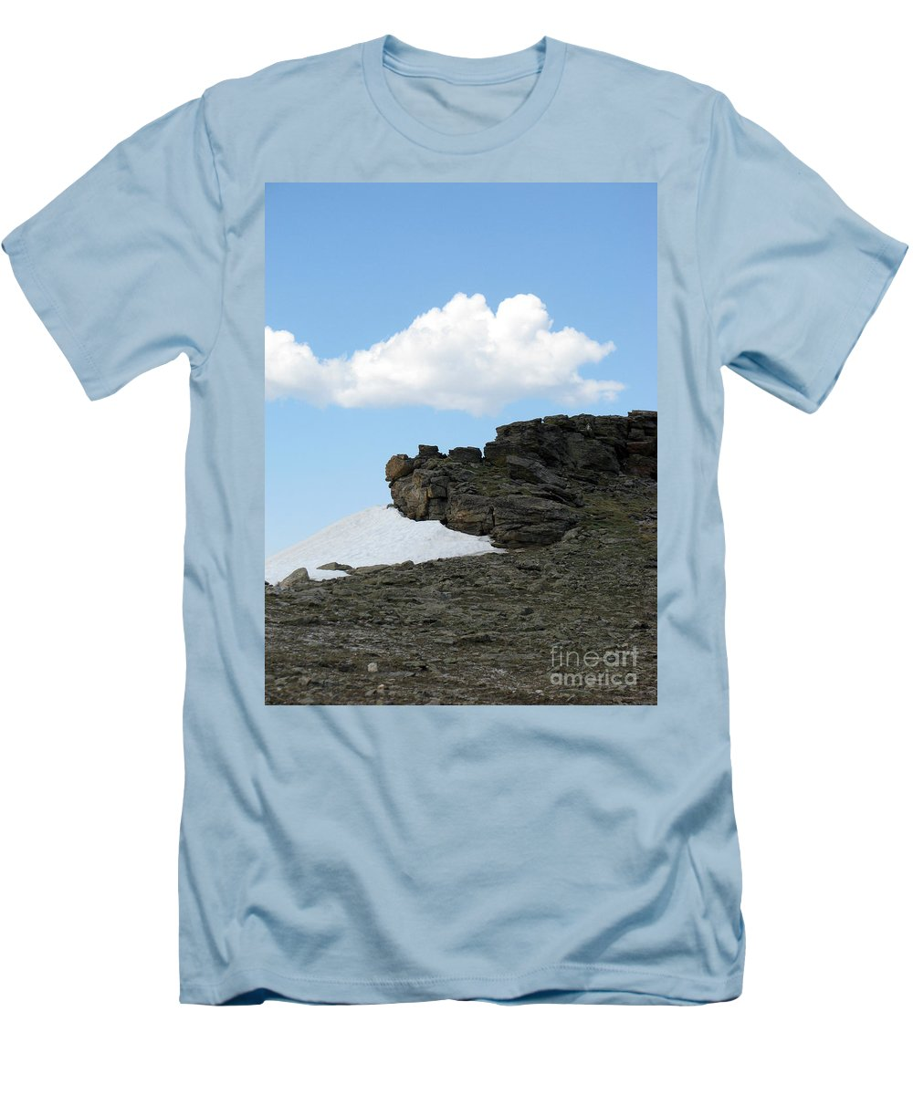 Rocky Mountains Men's T-Shirt (Athletic Fit) featuring the photograph Alpine Tundra - Up In The Clouds by Amanda Barcon