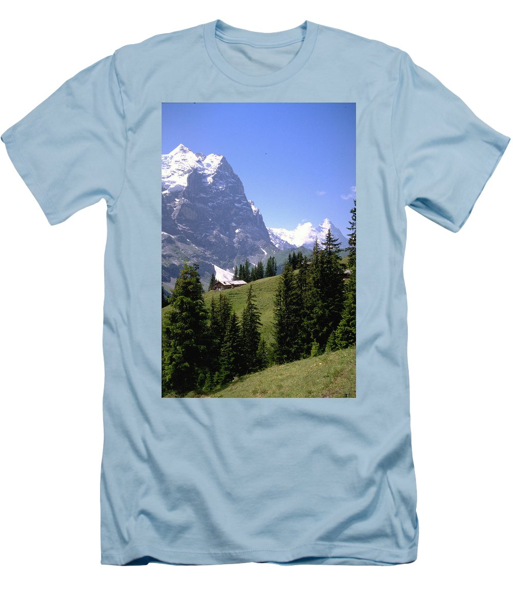 Alps Men's T-Shirt (Athletic Fit) featuring the photograph Alps by Flavia Westerwelle