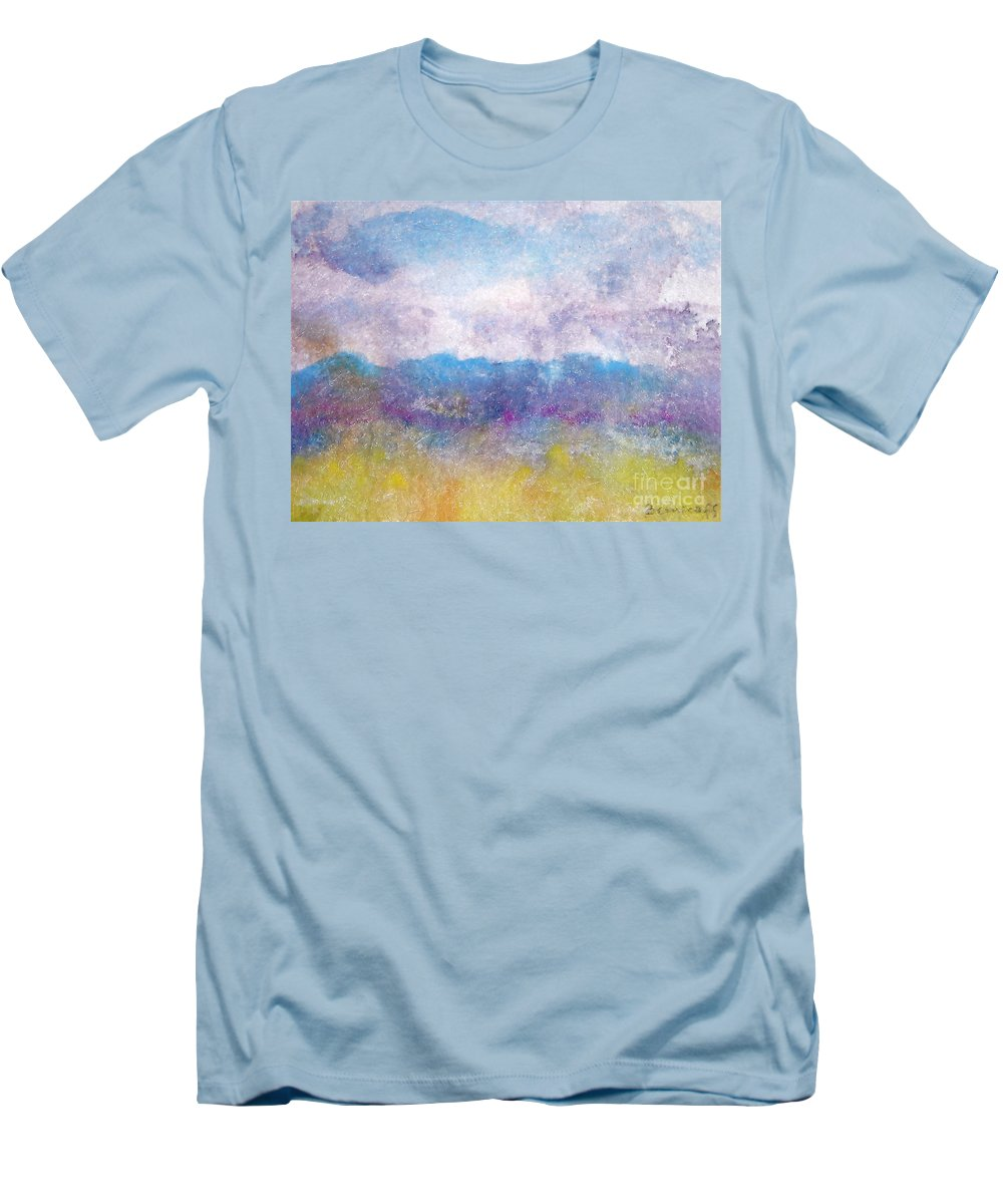 Abstract Men's T-Shirt (Athletic Fit) featuring the painting Arizona Impressions by Jan Bennicoff