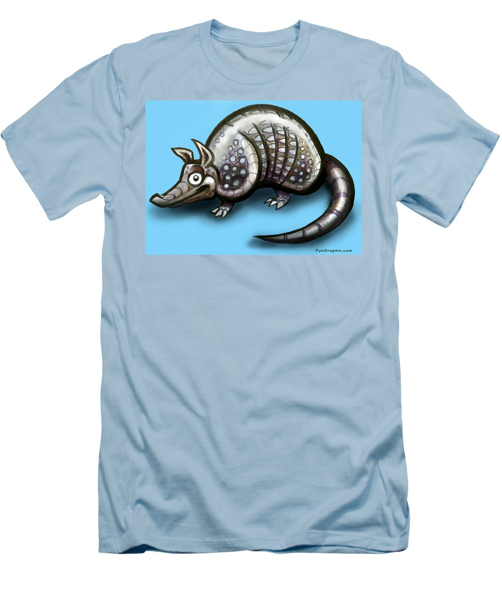 Armadillo Men's T-Shirt (Athletic Fit) featuring the greeting card Armadillo by Kevin Middleton