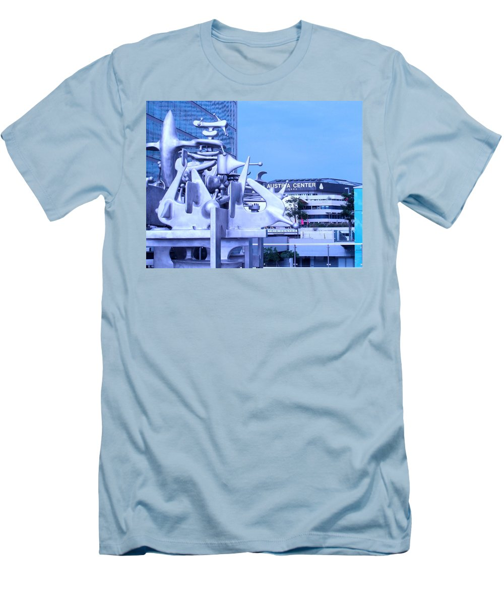 Sculpture Men's T-Shirt (Athletic Fit) featuring the photograph Austrian Sculpture by Ian MacDonald
