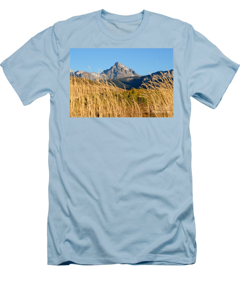 Fall Men's T-Shirt (Athletic Fit) featuring the photograph Autumn Day by David Lee Thompson