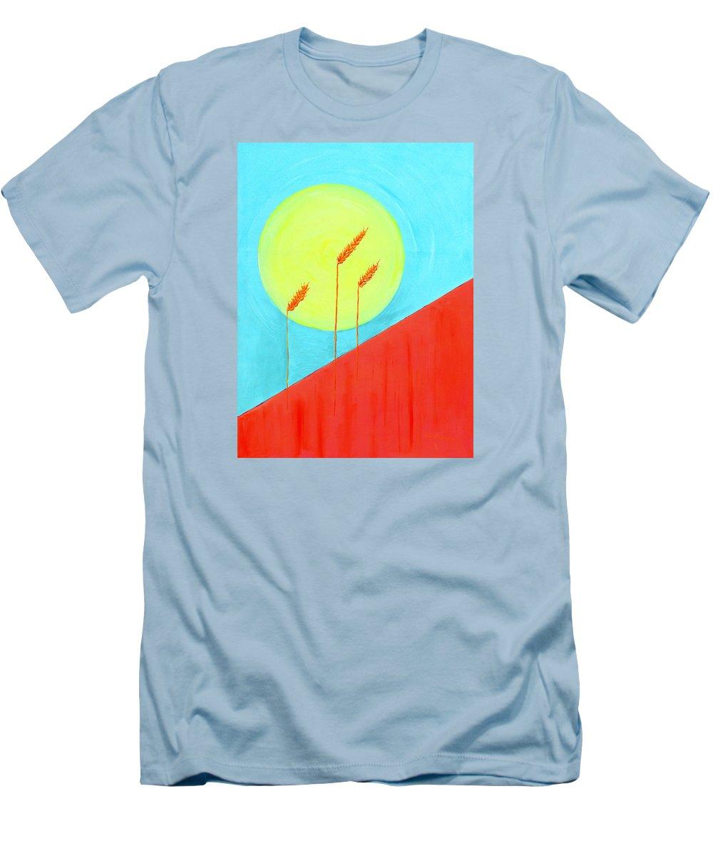 Landscape Men's T-Shirt (Athletic Fit) featuring the painting Autumn Harvest by J R Seymour
