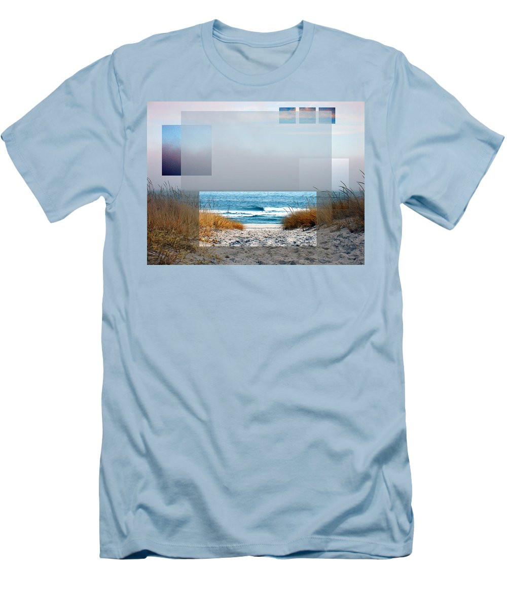 Beach Men's T-Shirt (Athletic Fit) featuring the photograph Beach Collage by Steve Karol