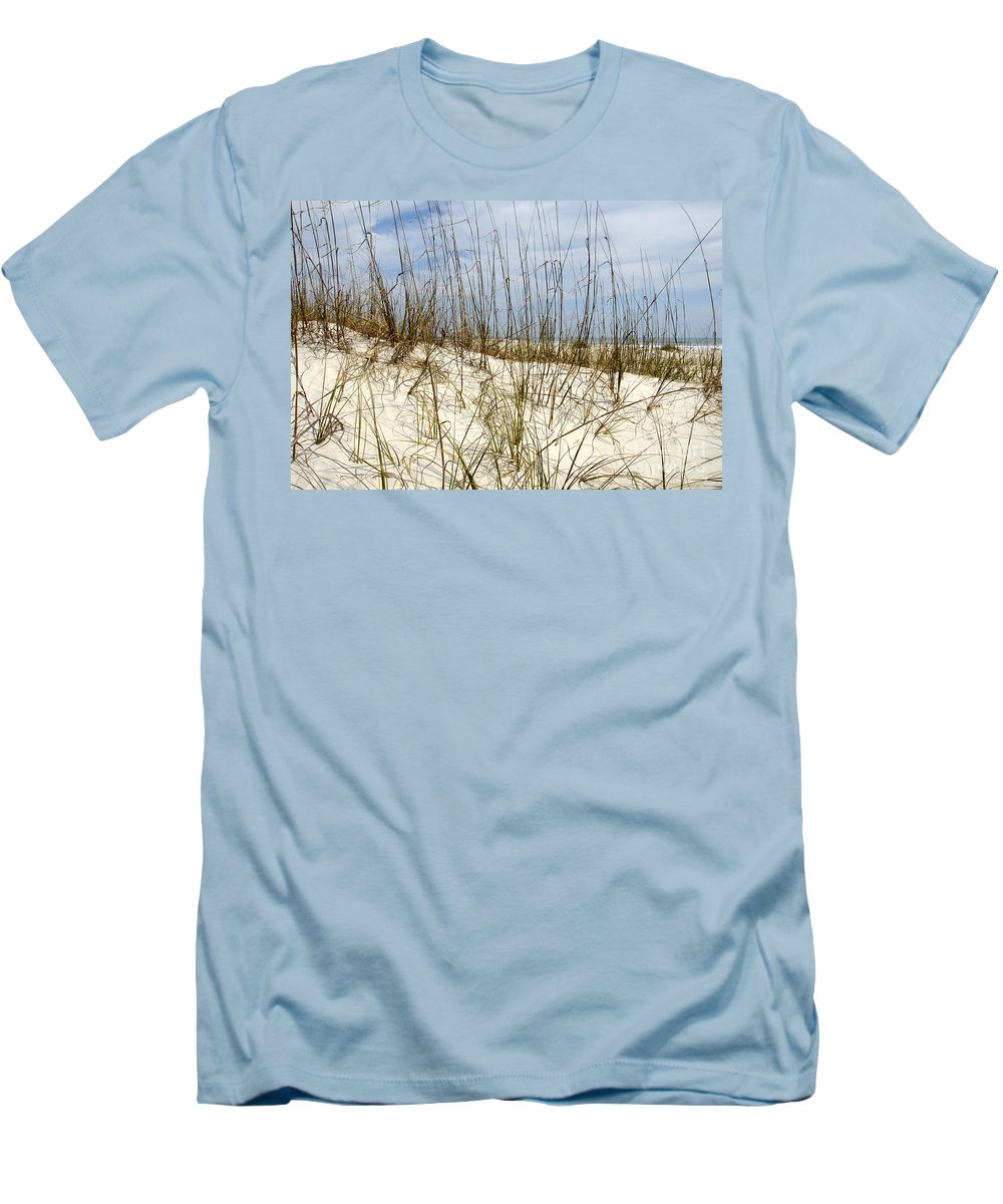 Beach Men's T-Shirt (Athletic Fit) featuring the photograph Beach Dunes by David Lee Thompson